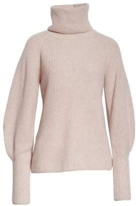 Altuzarra Cashmere Blouson Sleeve Turtleneck Sweater