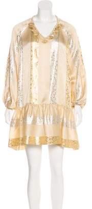Rachel Zoe Silk Brocade Dress