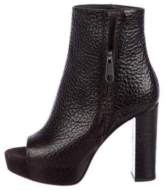 Brunello Cucinelli Textured Leather Ankle Boots