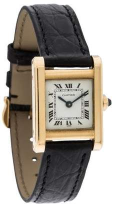 Cartier Tank Watch $3,495 thestylecure.com
