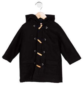 Cacharel Boys' Wool Hooded Coat black Boys' Wool Hooded Coat