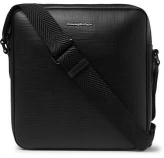 Ermenegildo Zegna Cross-Grain Leather Messenger Bag
