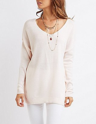 V-Neck Tunic Sweater $26.99 thestylecure.com