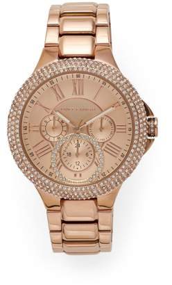 Vince Camuto Rose Goldtone Crystal-embellished Link Watch
