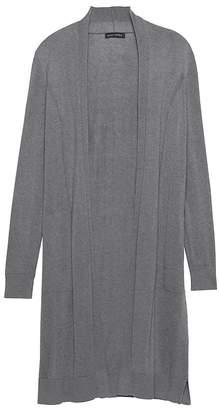 Banana Republic Petite Silk Cotton Duster Cardigan Sweater