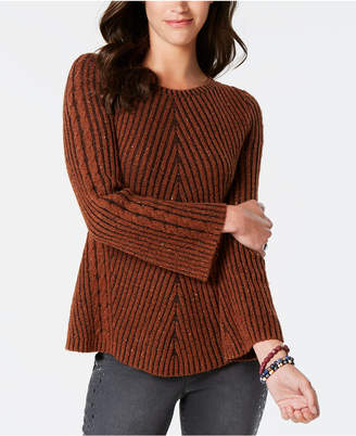 Style&Co. Style & Co Ribbed and Cabled Fitted Sweater