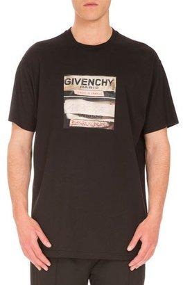 Givenchy Cuban-Fit Vintage Logo-Print T-Shirt, Black $440 thestylecure.com
