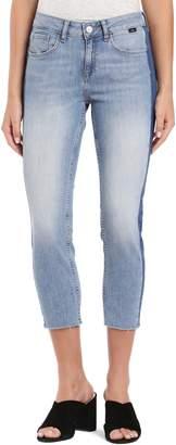 Mavi Jeans Ada Side Stripe Crop Boyfriend Jeans