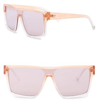 Le Specs Moon Club 59mm Square Flat Top Sunglasses