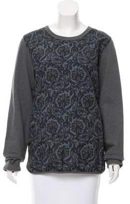Dries Van Noten Quilted Scoop Neck Sweatshirt