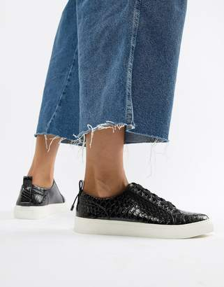 Asos Design DESIGN Durban pointed lace up sneakers