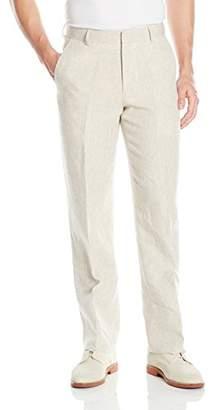 Palm Beach Men's Oxford Linen Plain Front Dress Pants