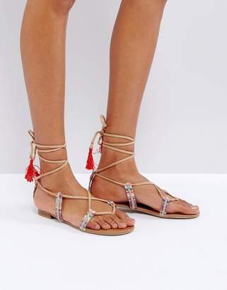 Call it Spring Call It Spring Grallan Flat Tassel Sandals $56 thestylecure.com