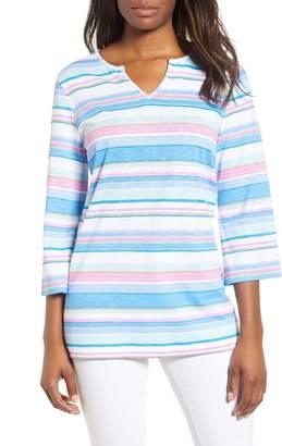 Tommy Bahama Festival Stripe Bell Sleeve Pima Cotton Top