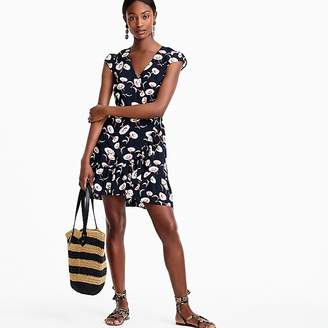 J.Crew Mercantile faux-wrap mini dress in floating floral