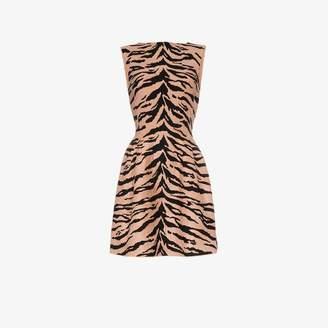 Alaia tiger print mini dress