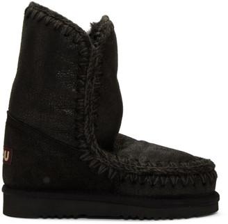 Mou Black 24 Mid-Calf Boots
