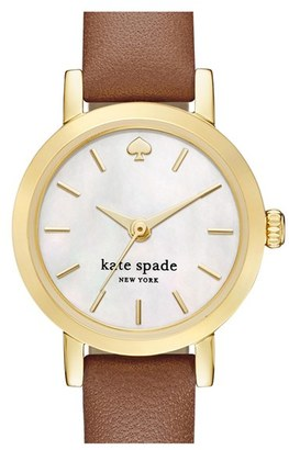 Women's Kate Spade New York 'Metro' Leather Strap Watch, 20Mm $175 thestylecure.com