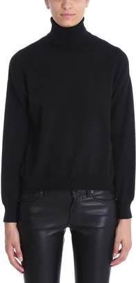 Mauro Grifoni Turtle Neck Black Wool Sweater