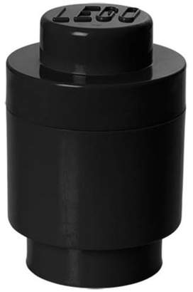 Lego Storage Brick 1 Round, Black