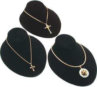FindingKing 3Pc Velvet Jewelry Display Bust Chain Necklace 8""
