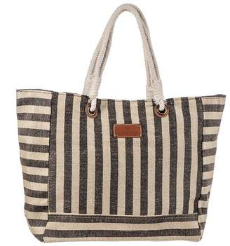 Agonda Orange Striped Hessian Beach Bag SUu3lcIDiW
