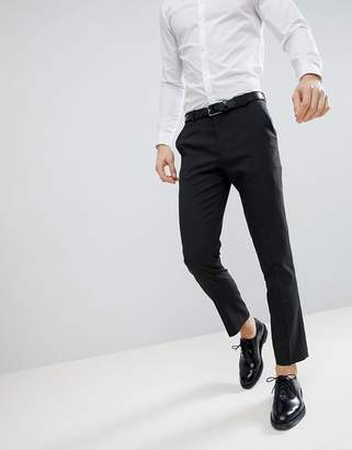 Asos Slim Suit Trousers In Charcoal