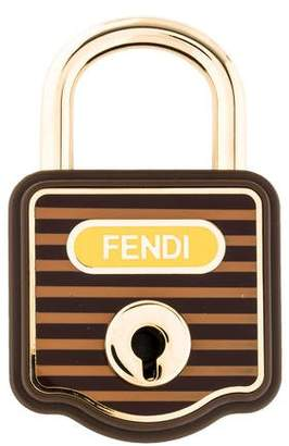 Fendi Striped Luggage Lock