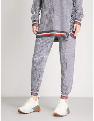 Stella McCartney Chevron-knit tapered wool and silk-blend jogging bottoms