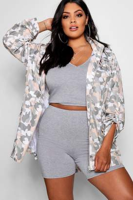 boohoo Plus Soft Camo Festival Mac