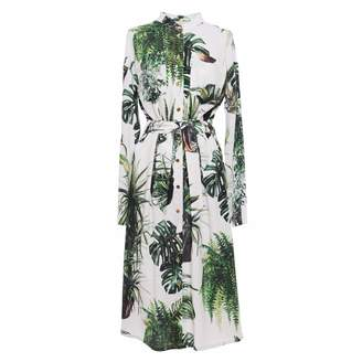 Tomcsanyi - Plants Print Shirtdress