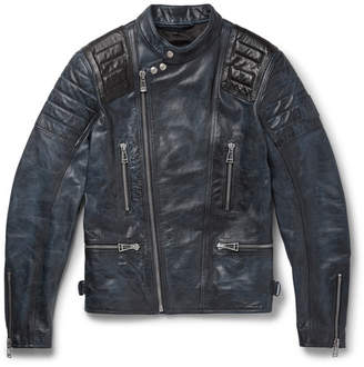 Belstaff Burnished-Leather Biker Jacket
