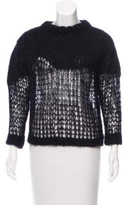 Acne Studios Long Sleeve Crew Neck Sweater