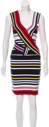 Preen by Thornton Bregazzi Striped Mini Dress