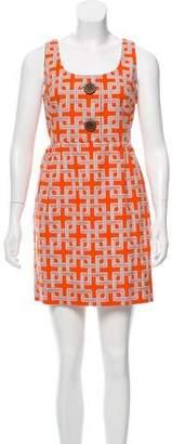 Milly Printed Sleeveless Midi Dress