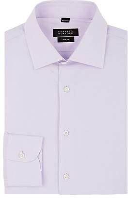 Barneys New York Men's Glen Plaid Cotton Poplin Shirt