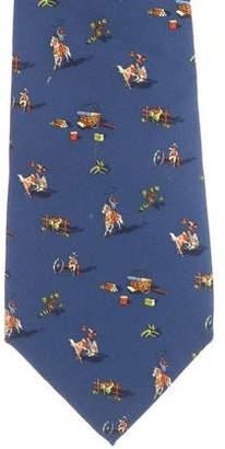 Salvatore Ferragamo Silk Print Tie