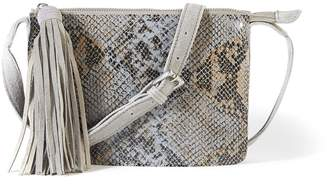 La Redoute Collections Snakeskin Effect Suede Handbag