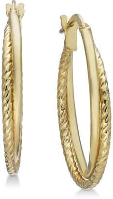 Giani Bernini Rope Twist Hoop Earrings in 18k Gold-Plated Sterling Silver