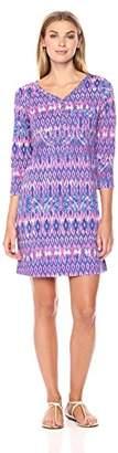 Caribbean Joe Women's Short Sleeve Crewneck Tee Shirt Dress