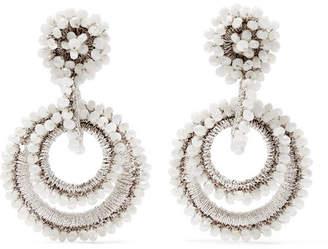 Mother of Pearl Bibi Marini - Mini Sundrop Mother-of-pearl, Bead And Silk Earrings - White