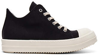 DRKSHDW by Rick Owens Low Sneakers in Black $620 thestylecure.com