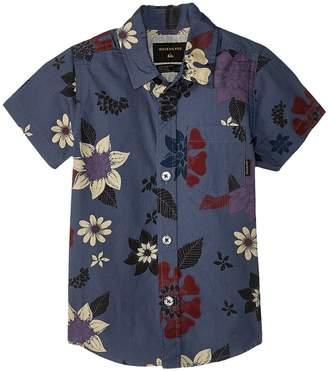 Quiksilver Sunset Floral Top Boy's Short Sleeve Button Up