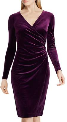 Ralph Lauren Crossover V-Neck Velvet Dress