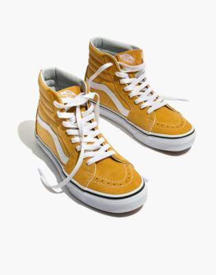 Madewell Vans Unisex SK8-Hi High-Top Sneakers in Ochre Suede