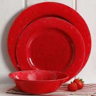 Mint Pantry Cogswell Mauna Crackle 12 Piece Melamine Dinnerware Set, Service for 4