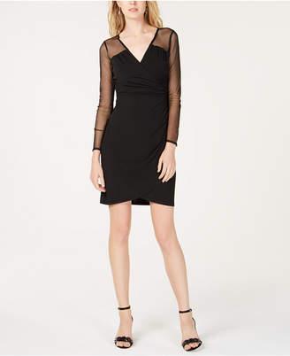 INC International Concepts I.n.c. Illusion-Sleeve Sheath Dress