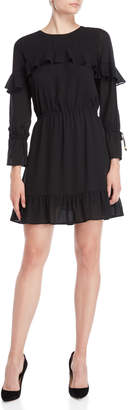 MICHAEL Michael Kors Black Ruffled Dress