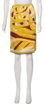 Emilio Pucci Abstract Print Silk Skirt