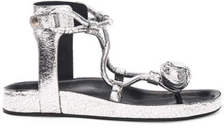 Isabel Marant Metallic Leather Either Sandals